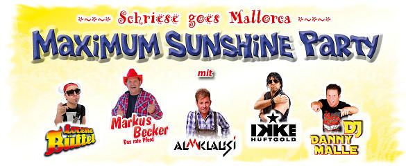 Schriese goes Mallorca - MAXIMUM SUNSHINE PARTY, Dienstag, 07.03.2017 - HAMEL's Festzelt auf dem Schriesheimer Mathaisemarkt