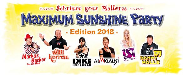Schriese goes Mallorca - MAXIMUM SUNSHINE PARTY - Edition 2018, Dienstag, 06.03.2018 - HAMEL's Festzelt auf dem Schriesheimer Mathaisemarkt